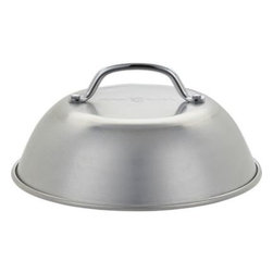 Cheese Melting Grill Dome - Diner-style dome with a classic utilitarian look captures heat and reduces cooking time while infusing smokier flavor into grilled cheese, burgers, appetizers and other cheesy delights.