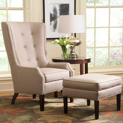 Stickley Pacific Heights Chair 96-9033-CH and Ottoman 96-9033-OT -