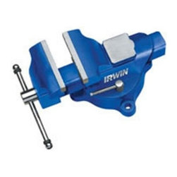 """Irwin Tools - 4"""" Heavy Duty Workshop Vise - The IRWIN 226304 4-Inch Vise is made of forged iron. This IRWIN Vise can hold up to 3000+-Pound of clamping pressure. Providing top clamping pressures for heavy duty jobs. This vise would make a great edition to your workshop.  