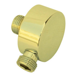 Renovators Supply - Shower Parts Gold PVD Brass Shower Water Connector Part Only Part - Shower Water Connector Part made of solid brass with gold PVD finish. PVD (Physical Vapor Deposition) means this shower connector part will keeps its gold finish for many years to come. 1/2 in. I.P. inlet and 1/2 in. O.D. outlet.