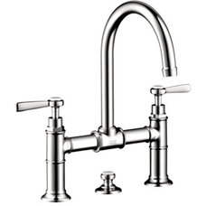 Hansgrohe 16510001 Axor Montreux Widespread Bridge Faucet with Lever Handles - C