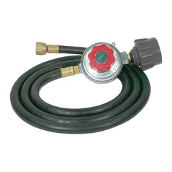 Buffalo Tools - 5 ft. LP Hose & Regulator Kit - Designed to link your fuel tank to your stove, this LP hose and regulator kit is a must-have for outdoors enthusiasts or campers. Ideal for cast iron cook stoves, the kit includes a hose and a regulator to adjust the levels of propane reaching your stove's burners for less or more heat. Great for cast iron stoves. Great for use with low pressure gas application. Connects to most LP tanks and cylinders