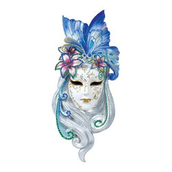 TLT - 13.75 Inch Hand Painted Resin Venetian Mystique Mask Plaque - This gorgeous 13.75 Inch Hand Painted Resin Venetian Mystique Mask Plaque has the finest details and highest quality you will find anywhere! 13.75 Inch Hand Painted Resin Venetian Mystique Mask Plaque is truly remarkable.