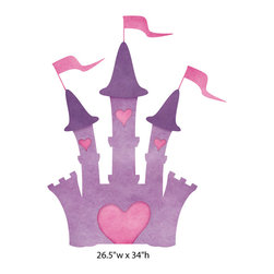 My Wonderful Walls - Princess Castle Wall Sticker - Decal, Large - 1 princess castle wall sticker