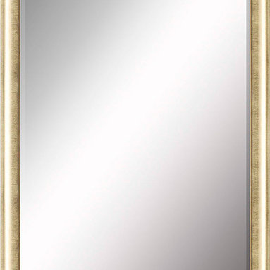Paragon Decor - Beveled Mirror, Bright Gold, 30x40 - Mirror, Mirror, on the wall, who's the most beautiful mirror of them all? Reflect your impeccable taste with this contemporary-style mirror, which features a gorgeous simple bright gold frame and high-quality interior beveled mirror. This piece measures 35 inches wide, 2 inches deep, and 45 inches high.