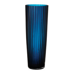 Lazy Susan - Baltic Blue Fluted Vase, Small - -Weight (lbs.):