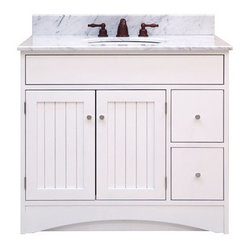 """Sunny Wood - Sunny Wood WT3621D White Whiting Tavern 36"""" Maple Wood Vanity Cabinet - 36"""" Maple Wood Vanity Cabinet with 2 Door and 2 Drawers from the Whiting Tavern Collection  Dimensions: 36""""W x 21""""D x 31-1/2""""H Constructed of Maple hardwoods and veneers 2 Door and 2 Drawer Design Inset doors Ample interior storage Knife-style hinges Brushed Nickel Knobs Full face frame construction Crated and shipped assembled Whiting Tavern vanities: 24"""" (WT2421D), 30"""" (WT3021D), 36"""" (this model), 48"""" (WT4821D)"""