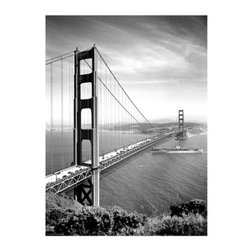 Artehouse Golden Gate Bridge Art Print - 18W x 24H in. - Golden Gate Bridge is a breathtaking view of one of the most famous bridges in the world. It is a limited edition black and white print on quality Somerset Velvet paper. This print measures 24L x 18 inches high and is ready for framing. Great gift idea!
