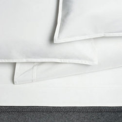 Area - Area Pearl White Organic Cotton Sateen Flat Sheet - The bed linens are from a company called Area out of New York. Their products are designed by Anki Spets, with carefully chosen colors, one of a kind patterns and subtle details to create unique options. All of the bedding is made from natural fibers, and materials and factories are carefully chosen from around the world to ensure quality goods that last.