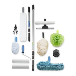 Extendable Pole Cleaning Systems - High windows and ceiling fans will no longer be the place for dust bunnies to hide. This great set of interchangeable tools works at cleaning every crevice in your home, without needing to buy individual items that take up a lot of precious storage space.