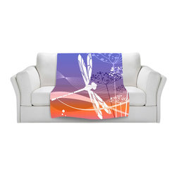 DiaNoche Designs - Fleece Throw Blanket by Angelina Vick - Flight Pattern I - Original Artwork printed to an ultra soft fleece Blanket for a unique look and feel of your living room couch or bedroom space.  DiaNoche Designs uses images from artists all over the world to create Illuminated art, Canvas Art, Sheets, Pillows, Duvets, Blankets and many other items that you can print to.  Every purchase supports an artist!