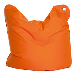 Sitting Bull USA - Sitting Bull Medium Bull Orange Bean Bag - This awesome large beanbag may be used as a chair,mat or small mattress. This unique seating solution is perfect for your child to have their own space.