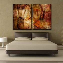 Ready2hangart - Bueno 'Abstract' Oversized Canvas Wall Art (Set of 2) - Artist: Alexis BuenoTitle: AbstractProduct type: Gallery Wrapped Canvas