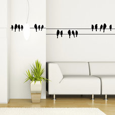 Wall Decals birds on a wire wall vinyl