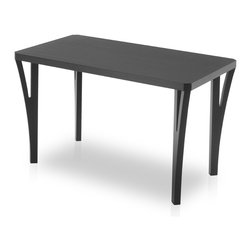 Bryght - Webster Ebony Wood Dining Table - The Webster dining table attracts a lot of attention with its unique leg design. A minimalist lay out ties in very well with this table's modern contemporary aura.