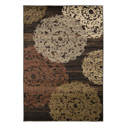 "Surya - Riley Rug RLY-5061 - 4' x 5'5"" - Both a bold zig-zag pattern and traditional organic pattern define the rugs in the Riley collection from Surya. While the zig zag pattern is a modern take on the traditional southwest style, the floral pattern of classic style is given a fresh perspective, combining it with geometric sections of different background colors. The Neural browns, tans and grays are delightfully balanced with a pop of cinnamon spice for added interest. Each rug is machine made in Turkey from 1% polypropylene."