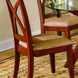 Homelegance - Star Hill Dining Side Chair - Set of 2 - Set of 2. Upholstered seat. Light cherry finish. 23.5 in. W x 20 in. D x 39.5 in. H