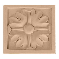 """Ekena Millwork - 3 1/2""""W x 3 1/2""""H x 3/4""""D Medium Edinburgh Rosette, Alder - 3 1/2""""W x 3 1/2""""H x 3/4""""D Medium Edinburgh Rosette, Alder. Our rosettes are the perfect accent pieces to cabinetry, furniture, fireplace mantels, ceilings, and more. Each pattern is carefully crafted after traditional and historical designs. Each piece comes factory primed and ready for your paint. They can install simply with traditional adhesives and finishing nails."""