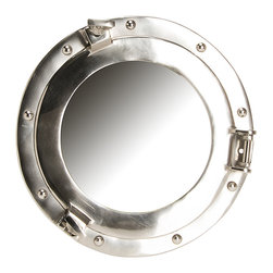 """Glenna Jean - Glenna Jean Set Sail Porthole Mirror (12"""") - The Glenna Jean Set Sail Porthole Mirror 12 is used in the Set Sail Collection by Glenna Jean. Add several for a real nautical look. Portal Mirror measures 12 in diameter."""
