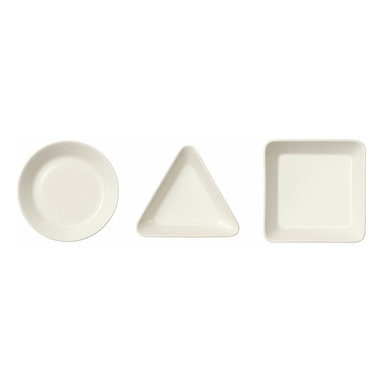 Iittala - Teema Mini Serving Set, 3 Piece Set, White - Mini dishes are perfect for serving nuts, olives and other bite-sized goodies at a party. These ceramic dishes are made for entertaining as the fun shapes set a festive and modern tone. They would make a super chic host or hostess gift.
