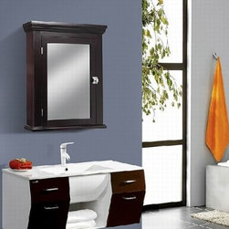 Crazy Price Last Day for Wooden Mirror Medicine Cabinet,Espresso - The Espresso Early American Medicine Cabinet can provide aesthetic appeal and functionality in any bathroom. This cabinet's espresso painted wood finish and crown pediment provide an early American feel.