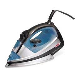 Hamilton Beach - HB Steam Iron Silver - This professional iron from Hamilton Beach  features three-way auto shutoff  stainless steel soulplate  spray/blast  adjustable steam and On/Off light.  This item cannot be shipped to APO/FPO addresses. Please accept our apologies.