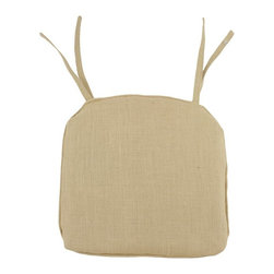 Chooty & Co. - Burlap 17 x 17 in. Pleated Foam Seat Cushion - OS17C3073 - Shop for Cushions and Pads from Hayneedle.com! Loaded with burlap texture and available in your choice of color the Burlap 17 x 17 in. Pleated Foam Seat Cushion is a casual and customized addition to your wood chair. A handsome seat cushion this one features a cotton cover with two sets of handy ties to keep it in place. A two-inch thick polyurethane cushion adds comfort. The rounded corners and corded trim enhance the style.About Chooty & Co.A lifelong dream of running a textile manufacturing business came to life in 2009 for Connie Garrett of Chooty & Co. This achievement was kicked off in September of '09 with the purchase of Blanket Barons well known for their imported soft as mink baby blankets and equally alluring adult coverlets. Chooty's busy manufacturing facility located in Council Bluffs Iowa utilizes a talented team to offer the blankets in many new fashion-forward patterns and solids. They've also added hundreds of Made in the USA textile products including accent pillows table linens shower curtains duvet sets window curtains and pet beds. Chooty & Co. operates on one simple principle: What is best for our customer is also best for our company.