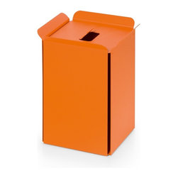 WS Bath Collections - Bandoni 53442.15 Paper Basket in Orange - Bandoni 53442.15 Paper Basket in Orange by WS Bath Collections