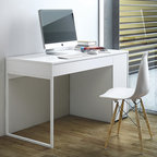 WorkSpace and Home Office | Smart Furniture - Keep your office simple and organized with the Prado Desk from SmartFurniture.com