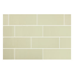 Stone & Co - 3x8 Light Khaki Glass Subway Tile - Finish: Shiny