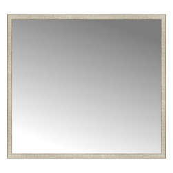 "Posters 2 Prints, LLC - 64"" x 58"" Libretto Antique Silver Custom Framed Mirror - 64"" x 58"" Custom Framed Mirror made by Posters 2 Prints. Standard glass with unrivaled selection of crafted mirror frames.  Protected with category II safety backing to keep glass fragments together should the mirror be accidentally broken.  Safe arrival guaranteed.  Made in the United States of America"