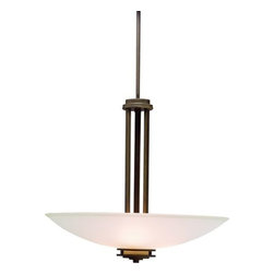 Kichler - Kichler 3275OZ Hendrik 3-Bulb Indoor Pendant with Bowl-Shaped Glass Shade - Product Features: