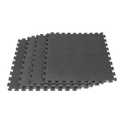 None - Ultimate Comfort 16-square-foot Black Foam Flooring - Create a comfortable home gym or play room for children with this 16 square foot black foam flooring tiles. With its interlocking padded tiles and slip-resistant surface, this flooring is durable and functional. The flooring is easy to wipe clean.