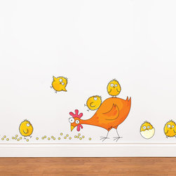 RR - Mommy and Baby Chicken Wall Decal - Mommy and Baby Chicken Wall Decal
