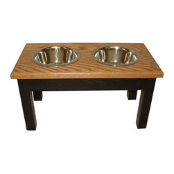 2 Bowl Traditional Style Diner Large Cherry, Espresso/Cherry - 2 Bowl Traditional Style Diner Large Espresso/Cherry - Solid ash wood