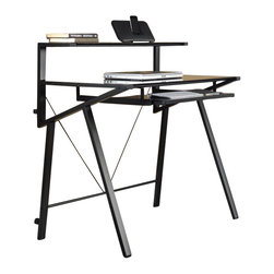 Sauder - Sauder Vector Computer Desk in Black Finish - Sauder - Computer Desks - 411980