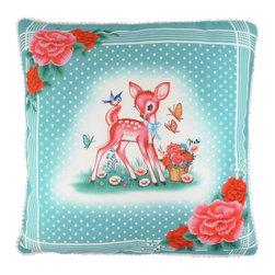 Nursery decor - Lovely cushion handcrafted in England.