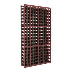 Wine Racks America - 10 Column Standard Wine Cellar Kit in Redwood, Cherry + Satin Finish - This rack is vital to any serious wine collector. Rock solid assembly of high grade pine or redwood is guaranteed to last. Designed for expandability, stability and rigidity; we don't top-load an extra bottle to meet our specs.