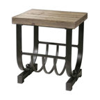 Uttermost - Uttermost Bijan Planked Fir Top Accent Table - 24303 - -Uttermost's accent furniture combines premium quality materials with unique high-style design.