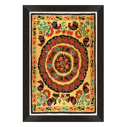 Wendover Art - Uzbek Silk I - This striking Giclee on Paper print adds subtle style to any space. A beautifully framed piece of art has a huge impact on a room for relatively low cost! Many designers and home owners select art first and plan decor around it or you can add artwork to your space as a finishing touch. This spectacular print really draws your eye and can create a focal point over a piece of furniture or above a mantel. In a large room or on a large wall, combine multiple works of art to in the same style or color range to create a cohesive and stylish space! This striking image is beautifully framed in rubbed espresso with gold.