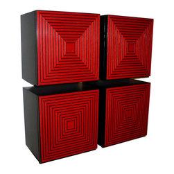 Irvin Studio and Design - The Maze Storage Box, Red - $395.00 per box.