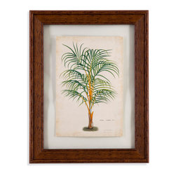 Bassett Mirror - Bassett Mirror Framed Under Glass Art, Palm of the Tropics III - Palm of the Tropics III