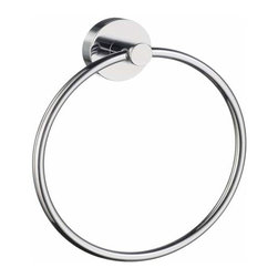 Smedbo - Smedbo Home Towel Ring, Polished Chrome, 6 3/4 Inch - Smedbo Home Towel Ring, Polished Chrome, 6 3/4 Inch