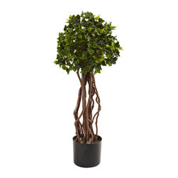 "Covered In Style Inc - 2.5' English Ivy Topiary UV Resistant (Indoor/Outdoor) - There is a corner in your home or office where an ""accident"" occurred. Maybe someone overwatered a plant or the flooring is discolored. Cover it up with this amazing plant. It's two and a half feet of stunning lifelike English ivy, glossy leaves and all."
