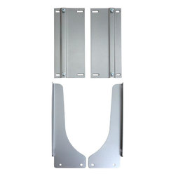 Knape & Vogt - Knape & Vogt Trash Receptacles 17.5 in. x 4 in. x 22.5 in. Door Mount Platinum - This Knape and Vogt Platinum Door Mount Kit works with any KV bottom-mount waste bin unit. It allows your cabinet door to be mounted to the system so the waste bin slides out with the door as it opens. This 1-step operation helps to keep your hands cleaner as there is no direct contact with the waste bin when operating. Color: Silver metallic.