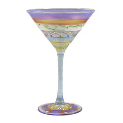 Golden Hill Studio - Mosaic Garland Martini Glass - There's a pattern here. You love sophisticated and fun art, so your martini glasses would just naturally follow suit. It's all part of a grand plan to totally enchant your guests.