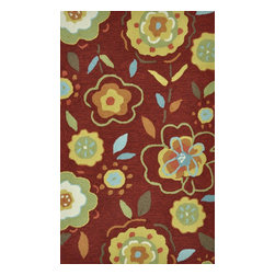 Loloi Rugs - Loloi Rugs Summerton Collection - Red / Yellow, 3' Round - Lay a new foundation to your favorite room with a hand-crafted rug from the Summerton Collection. Hand-hooked in China of 100% polyester, these spirited rugs earn notice through clean design and quality craftsmanship. And whether you're relaxing after a long day or just enjoying a lazy Sunday, the perfectly plush feel is a real treat for your feet. With shapes available in rectangles, small rounds, hearths, and runners, Summerton has a rug - or two - for any room.