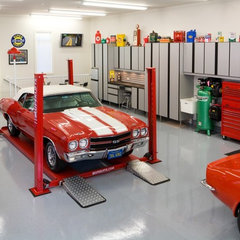modern garage and shed by Closet Organizing Systems