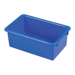 Ecr4kids - Ecr4Kids Stack And Store Tub Single-Width Blue Tote Bin With No Lid - 15 Pack - Fits most standard cubbie units that are 14D or more. Heavy-duty polypropylene plastic with rounded edges for safety. Available in RedRD, BlueBL, YellowYE, GreenGN or ClearCL.