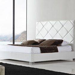 """Casabianca Furniture - Verona Platform Bed - Features: -Made with excellent quality and comfort.-Powder Coated Finish: No.-Gloss Finish: No.-Frame Material: MDF.-Upholstered: Yes -Upholstered Section: Headboard, Footboard, bed frame.-Upholstery Material: Leather/Leatherette.-Upholstery Fill Material: High density foam..-Hardware Material: Stainless Steel hardware.-Non Toxic: Yes.-Scratch Resistant: No.-Mattress Included: No.-Recommended Mattress Height: 13"""".-Box Spring Required: No.-Headboard Storage: No.-Footboard Storage: No.-Underbed Storage: No.-Mattress Profile Maximum: 13"""".-Mattress Profile Minimum: 8"""".-Slats Required: Yes -Slats Included: Yes..-Center Support Legs: Yes.-Adjustable Headboard Height: No.-Adjustable Footboard Height: No.-Trundle Bed Included: No.-Attached Nightstand: No.-Cable Management: No.-Built in Outlets: No.-Lighted Headboard: No.-Reclaimed Wood: No.-Number of Center Support Legs (Size: King): 2.-Number of Center Support Legs (Size: Queen): 1.-Distressed: No.-Eco-Friendly: No.-Recycled Content: No.-Canopy Frame: No.-Hidden Storage: No.-Jewelry Compartment: No.-Commercial Use: No.Dimensions: -Overall Height - Top to Bottom (Size: King): 60"""".-Overall Height - Top to Bottom (Size: Queen): 60"""".-Overall Width - Side to Side (Size: King): 83"""".-Overall Width - Side to Side (Size: Queen): 67"""".-Overall Depth - Front to Back (Size: King): 89"""".-Overall Depth - Front to Back (Size: Queen): 88"""".-Overall Product Weight (Size: King): 214 lbs.-Overall Product Weight (Size: Queen): 185 lbs.Assembly: -Assembly Required: Yes.-Tools Needed: Allen key, philip screwdriver and flat-head screwdriver.-Additional Parts Required: No.Warranty: -Product Warranty: 6 months."""